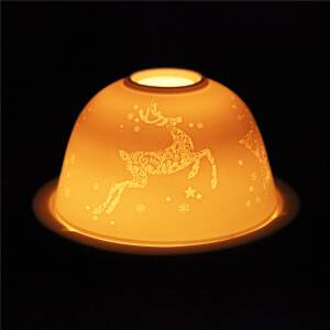 Lampion porcelanowy na tealight wys, 8 cm RENIFER
