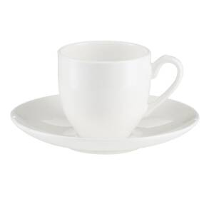 Filiżanka do kawy espresso porcelanowa 100 ml ze spodkiem BOSTON white